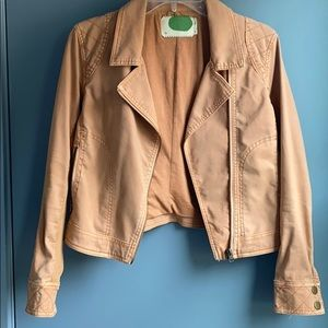 Anthropologie Petite Tangerine Moto Jacket